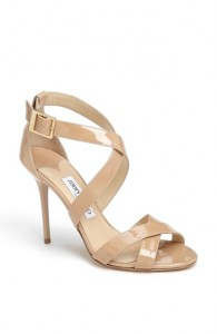 JIMMY CHOO LOUISE SANDALS  NUDE